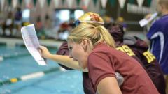 First year Tiger Swim head coach Lindsey Rock