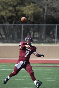 DS alumni QB Ryan Bonnett puts the ball in the air at the 2011 game